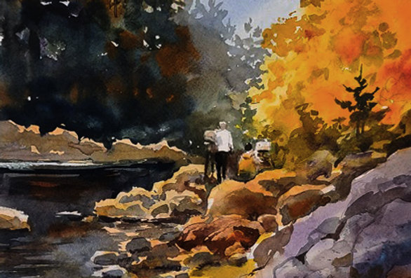 "Original Watercolor Demo ""Northshore Paint Outing"""