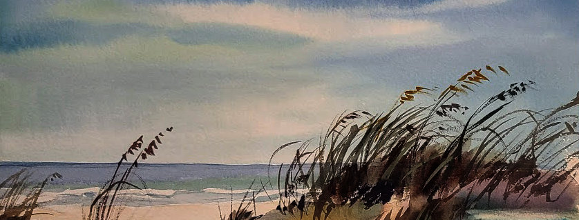 "Original Watercolor Demo ""Sand Dunes"""