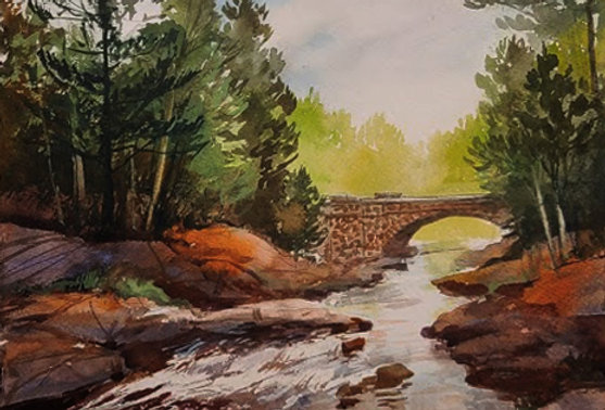 "Original Watercolor Demo ""Lester, Amity Creek, Duluth, MN"""