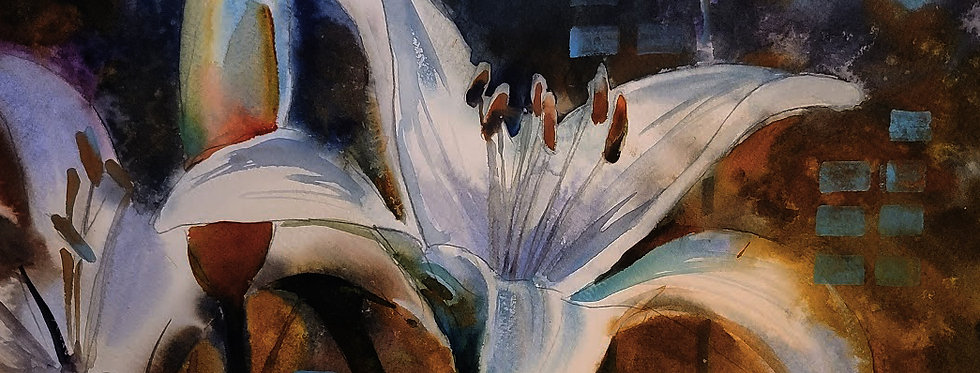 "Original Acrylic Demo ""Flowering Lily"""