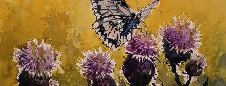 "Original Watercolor Demo ""Butterfly"""
