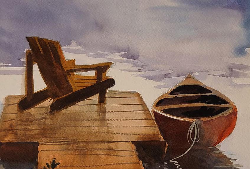 """Original Watercolor Demo """"Journey North"""""""