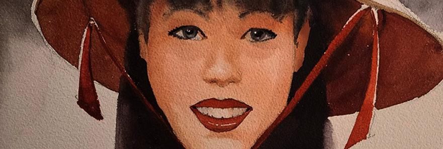 """Original Watercolor Demo """"Beautiful Smile"""""""