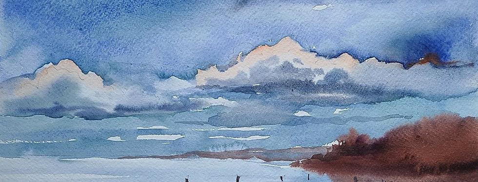 "Original Watercolor Demo ""Lake Weir, The Villages, Florida"""