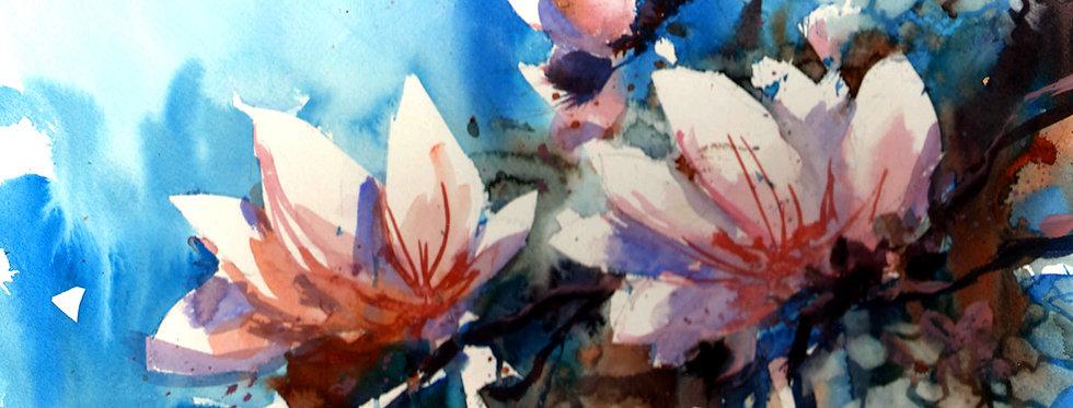"Original Watercolor Demo ""Spring Blossoms"""