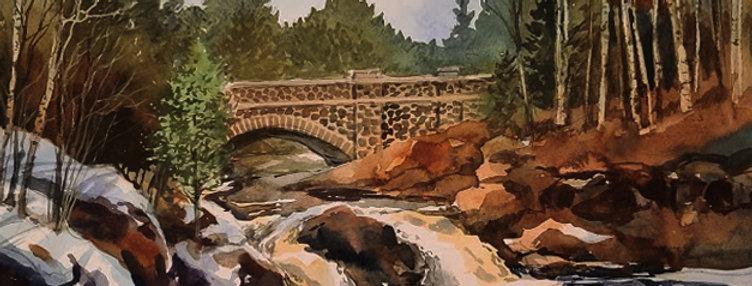 "Original Watercolor Demo ""Lester- Amity Creek, MN"""