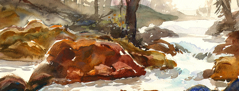 "Original Watercolor Demo ""RiverFalls"""