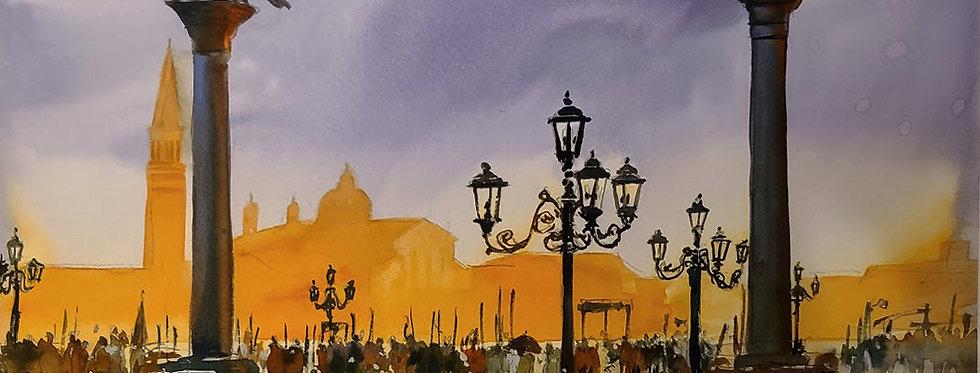 """Original Watercolor Demo """"Venice"""""""