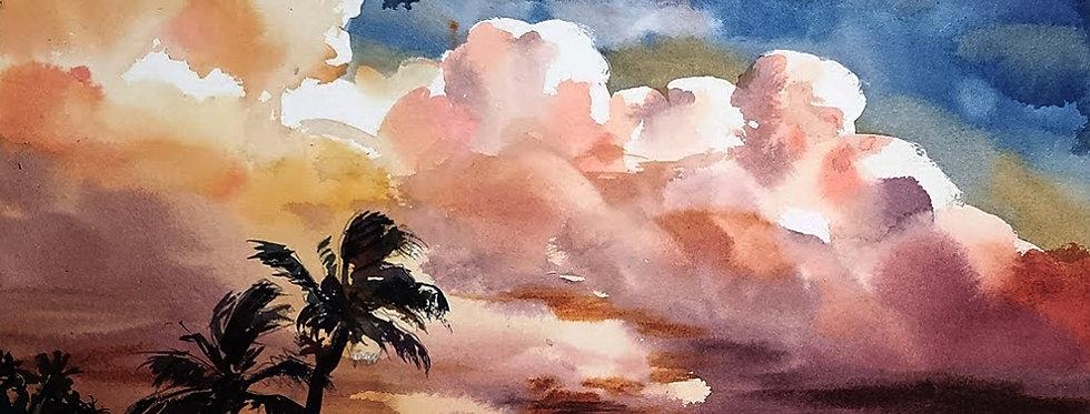 """Original Watercolor Demo """"That's Just Beachy"""""""