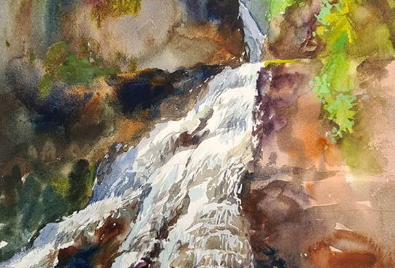 "Original Watercolor Demo ""Caribou Falls"""