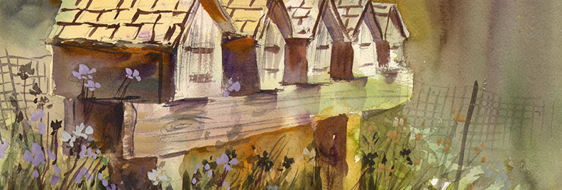 "Original Watercolor Demo ""Mailbox Love"""
