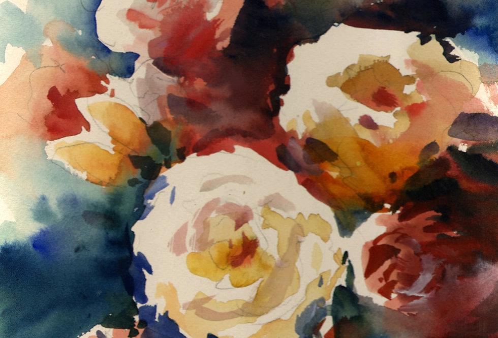 """Original Watercolor Demo """"Waabigwaniin"""""""