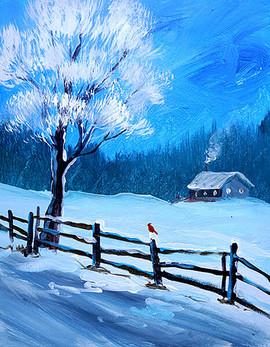 18 snowy home sweet home