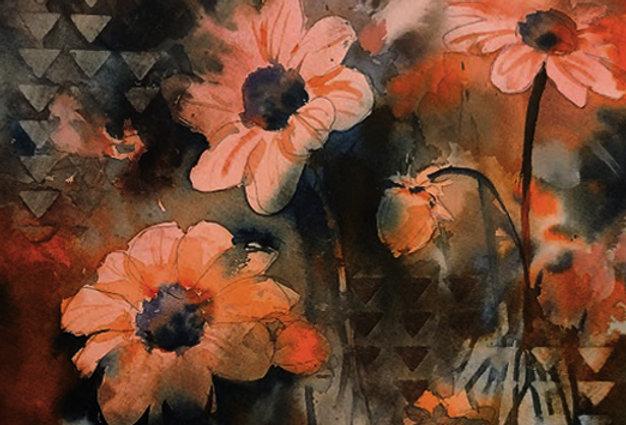 """Original Watercolor Demo """"Flowering Orange Blossoms"""""""