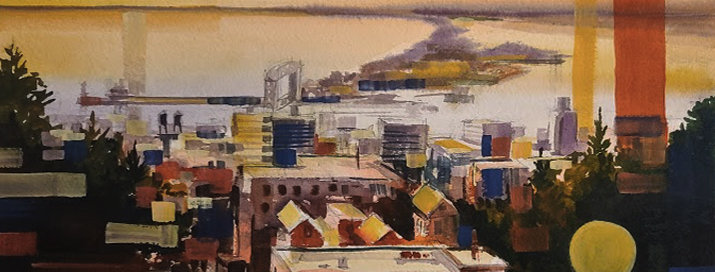 "Original Watercolor Demo ""Abstracting Duluth MN"""