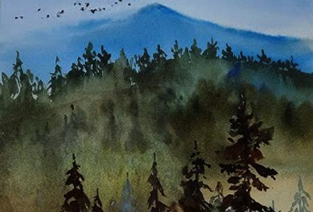 """Original Watercolor Demo """"Heading North"""""""