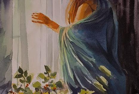 """Original Watercolor Demo """"Morning View"""""""