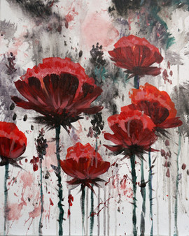 46 red poppies