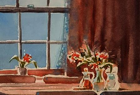 """Original Watercolor Demo """"Hoping for Reopening"""""""
