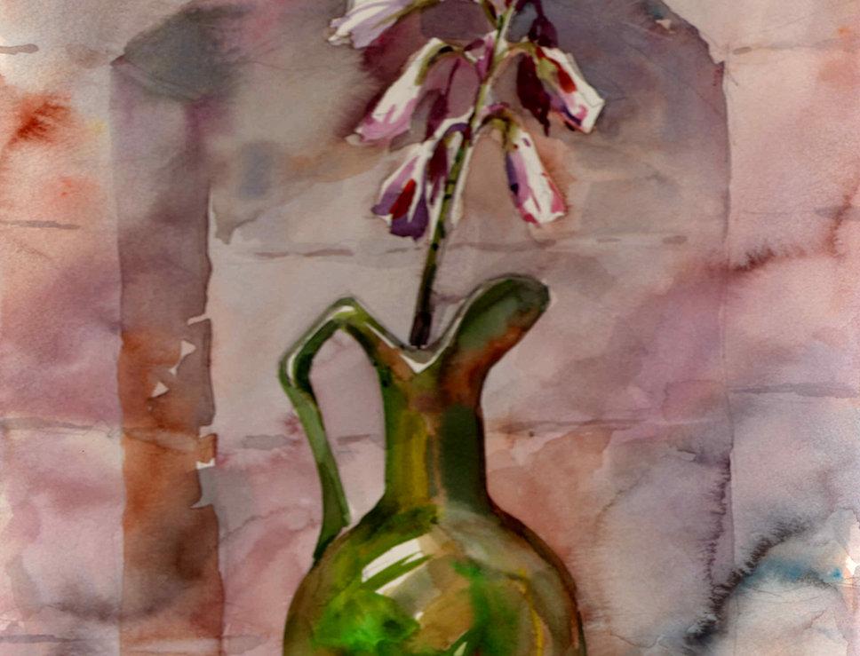 "Original Watercolor Demo ""P&C Coachhouse flower"""