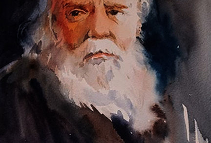 "Original Watercolor Demo ""Portrait"""