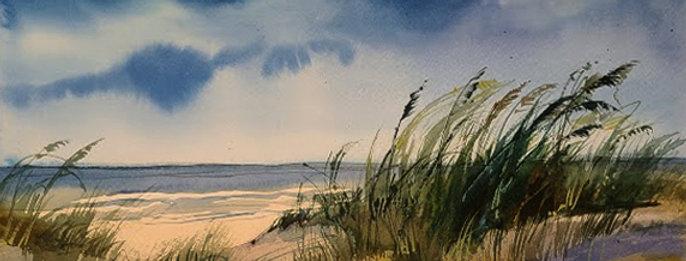 """Original Watercolor Demo """"Just Beachie"""""""