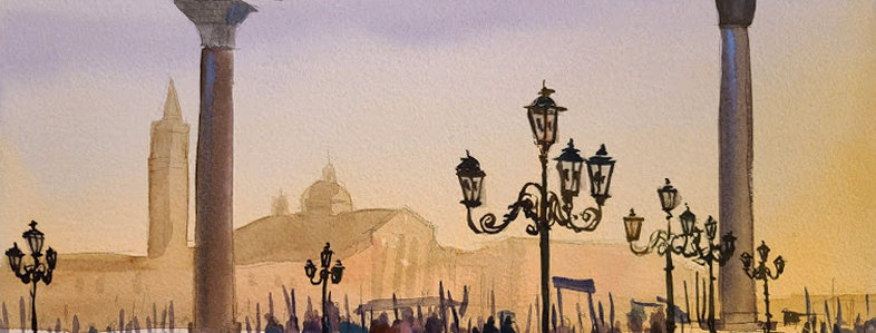 "Original Watercolor Demo ""Venice"""