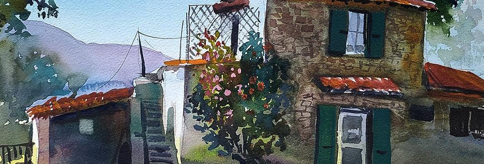 "Original Watercolor Demo ""Southwest Country Home"""