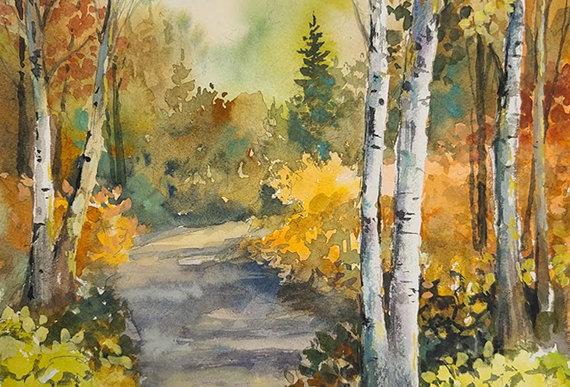 "Original Watercolor Demo ""Lester Trail Duluth, MN"""