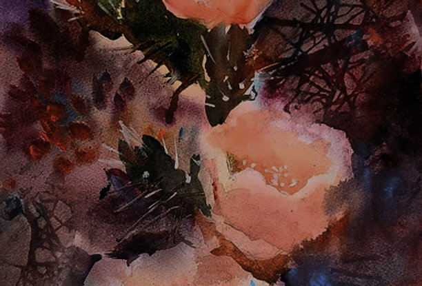 "Original Watercolor Demo ""Cactus Flower"""