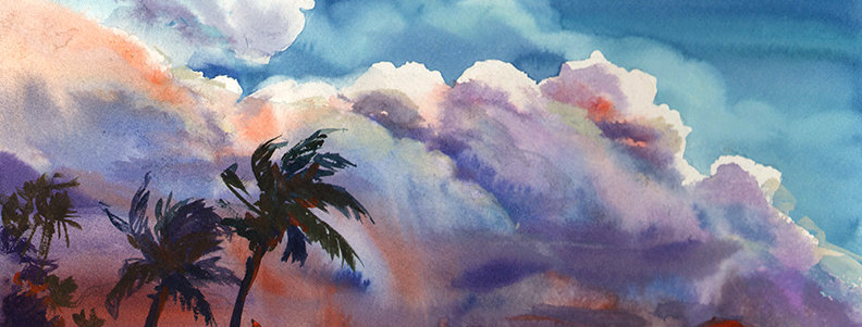 "Original Watercolor Demo ""Tropical Wonders"""