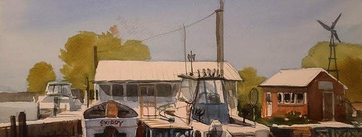 "Original Watercolor Demo ""Skippy in Cornucopia, Wisconsin"""