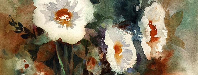 "Original Watercolor Demo ""Mom's flowers"""