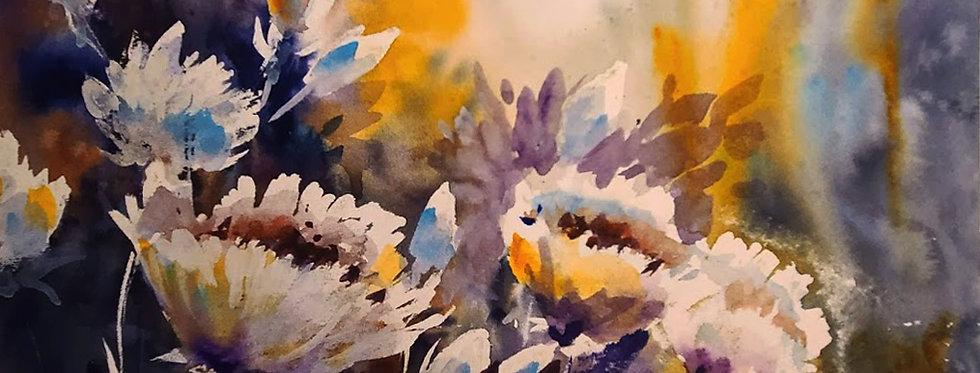 """Original Watercolor Demo """"Flowering Fun"""""""