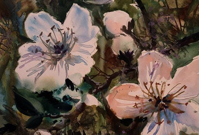 """Original Watercolor Demo """"Flowering Delight"""""""
