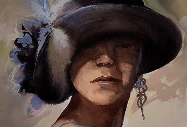 "Original Watercolor Demo ""Lovely Hat"""