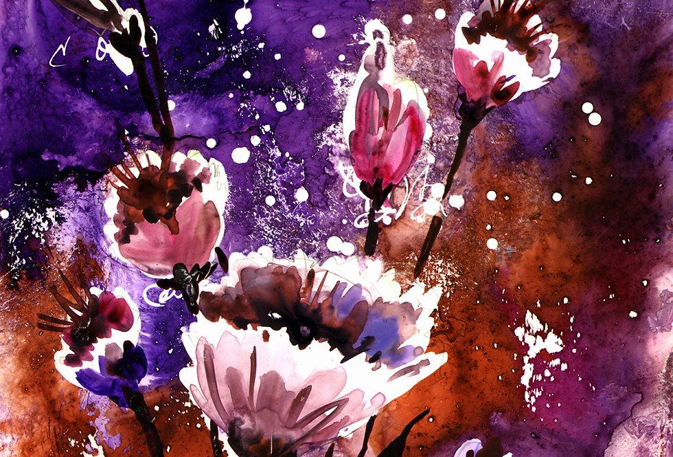 "Original Watercolor Demo ""Flower Power"""