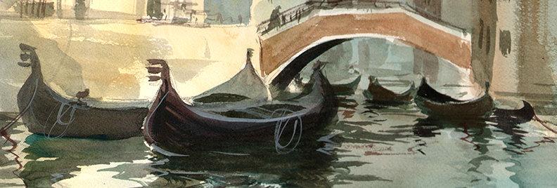 "Original Watercolor Demo ""After Sargent"""