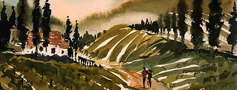 "Original Watercolor Demo ""Walking on Sunshine"""