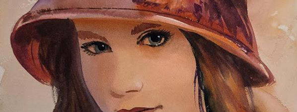 "Original Watercolor Demo ""Beauty Queen"""