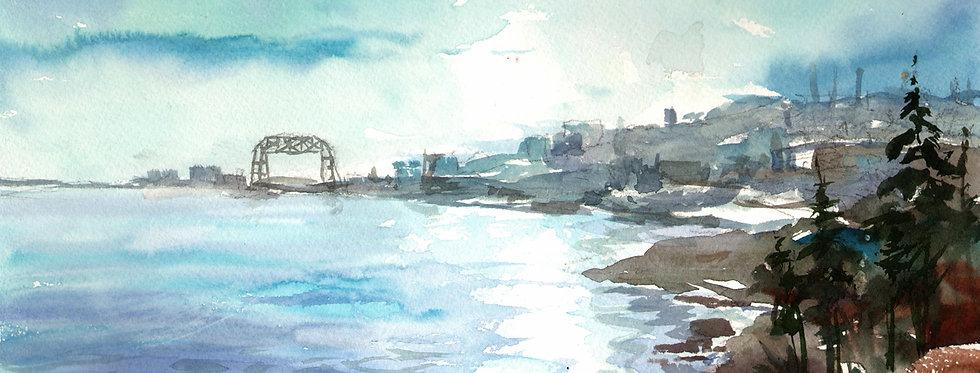 "Original Watercolor Demo ""My Imagination Duluth"""