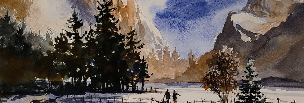 "Original Watercolor Demo ""Dream National Park"""