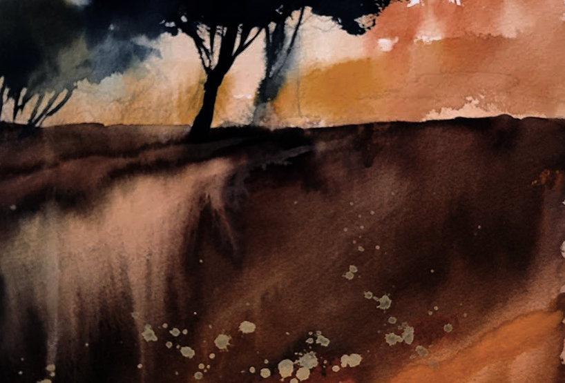 "Original Watercolor Demo ""Designee Trees"""