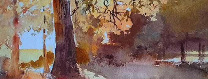 "Original Watercolor Demo ""Autumn in Wisconsin"""