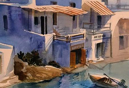 "Original Watercolor Demo ""Island Hopping"""