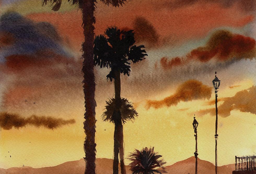 "Original Watercolor Demo ""Island Dreaming"""