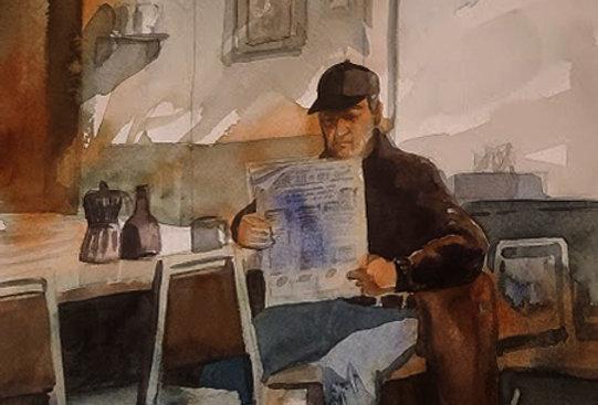 """Original Watercolor Demo """"Wilbert Cafe & El Toro Lounge, Cotton, MN"""""""