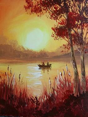 21 sunset fishing