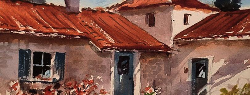 "Original Watercolor Demo ""Home Sweet Home"""