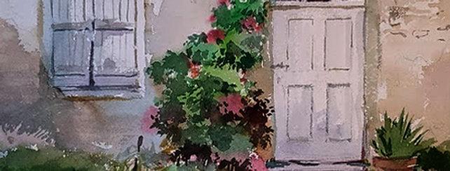 """Original Watercolor Demo """"Welcome Doorway"""""""